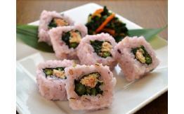 雑穀米ロール寿司(蒸し鶏と梅しそ) 15個
