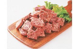 一口霜降り風ビーフステーキ(牛脂注入成形肉) 1kg