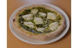 モッツァレラとリコッタのバジルソースピザ〈ピザレボ〉 1枚