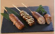 豚巻きおにぎり串(お好み焼き味) 4本